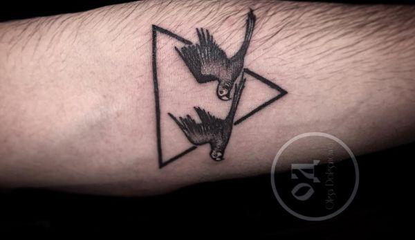 Kleine Zwei Papagei Tattoo am Unterarm