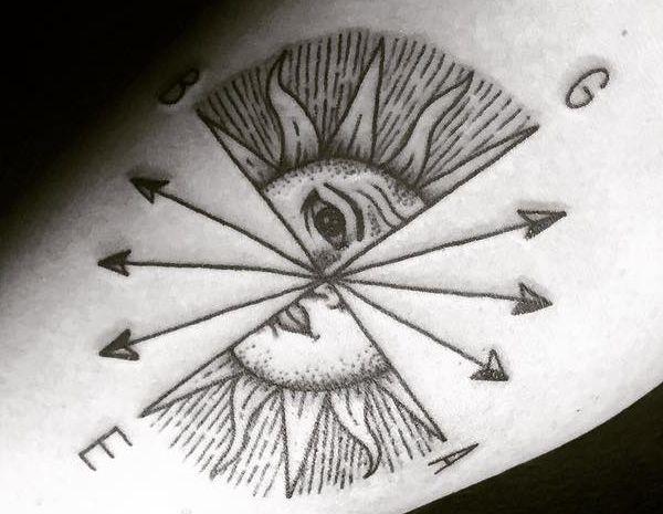 Einzigartig Kompass mit Sonne