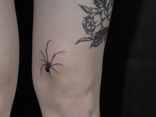 Spinne Tattoo Design auf der Bein