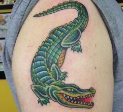 19 Krokodile Tattoo Designs – Bilder und Bedeutung