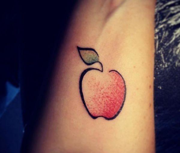 Einfach Apfel Design am Unterarm