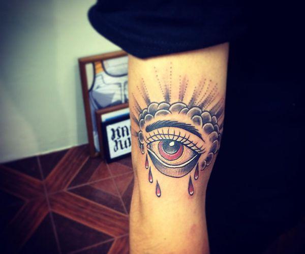 Auge Design auf dem Arm