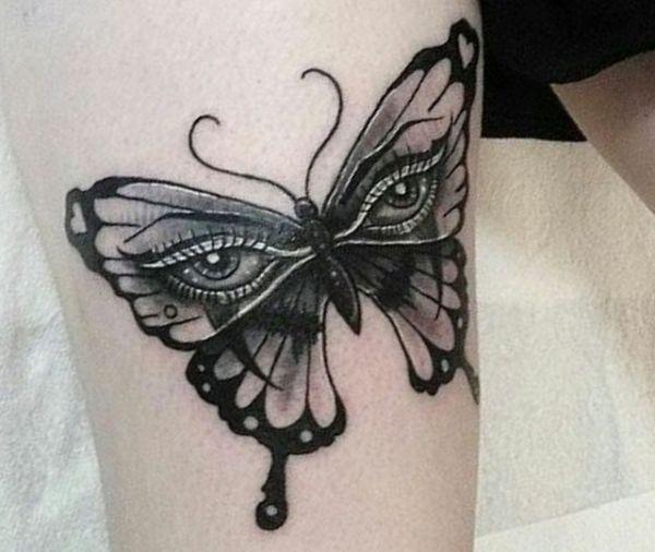 Schmetterling mit Auge Tattoo