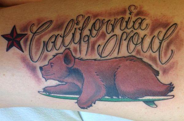 Kalifornien Bär Tattoo Idee