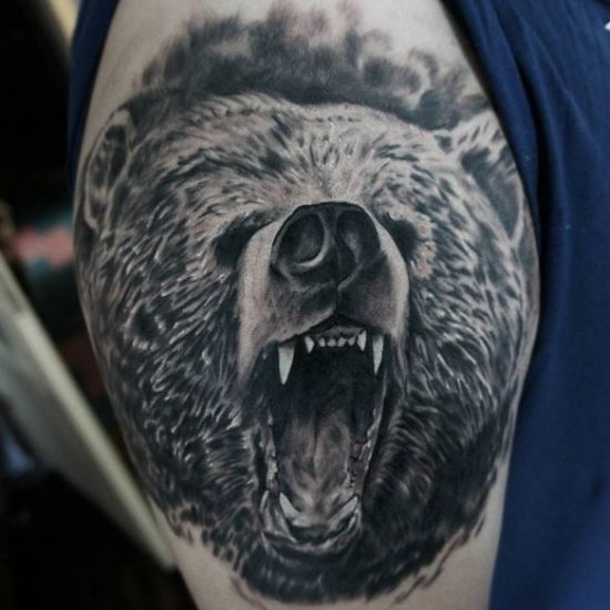 22 Bär Tattoo Ideen - Bilder und Bedeutung