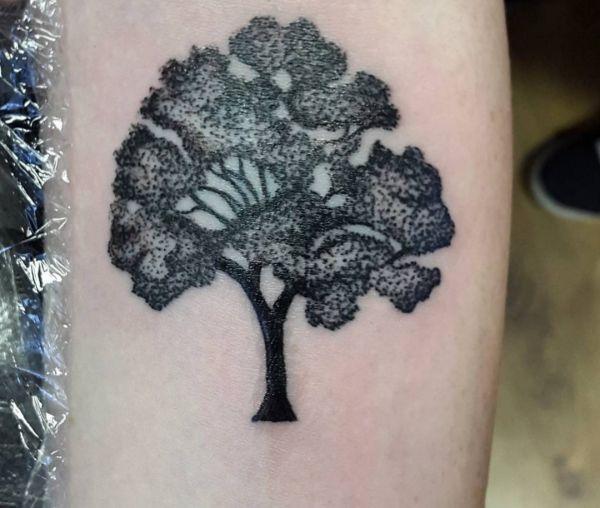 Eichen Baum Design auf dem Arm