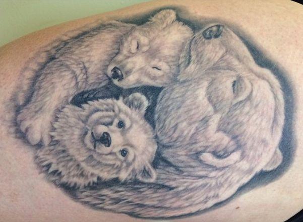 Eisbär Familie Design