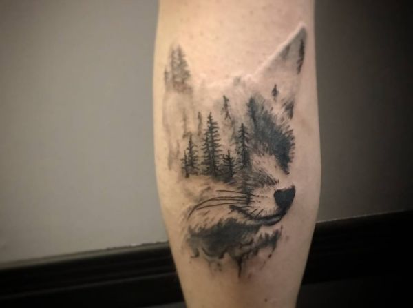 the gallery for abstract wolf tattoo. Black Bedroom Furniture Sets. Home Design Ideas