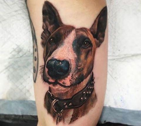 3D Hunde auf der Bein