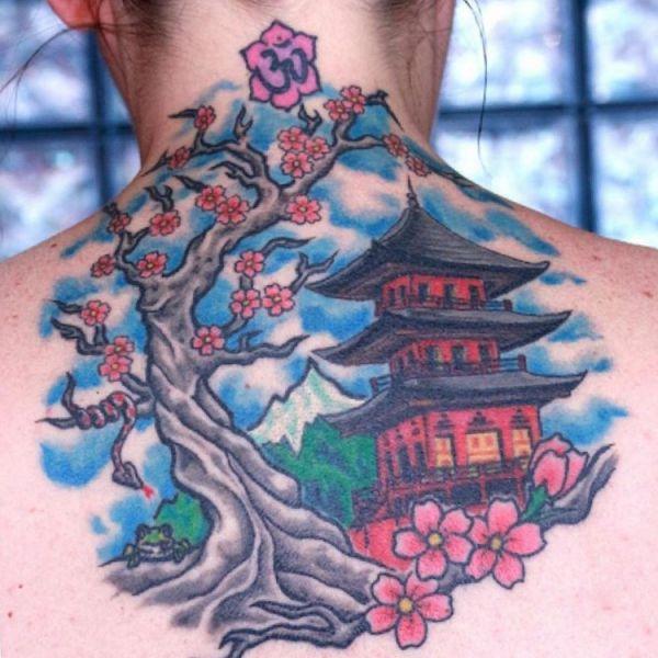 Japanischer Design am Rücken