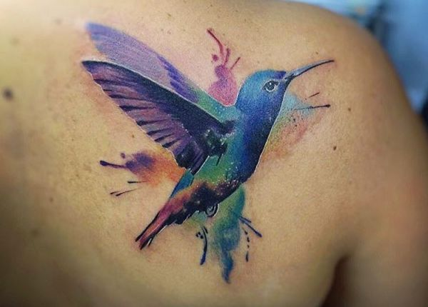 23 wunderbare Kolibri Tattoos - sie stehen für Freude