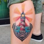 Leuchtturm Tattoo Motive, Ideen und Bedeutungen