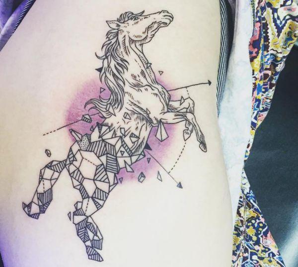 Abstract Pferd Design auf der Hüfte