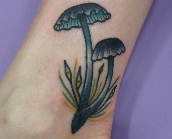 Pilz Design am fuß