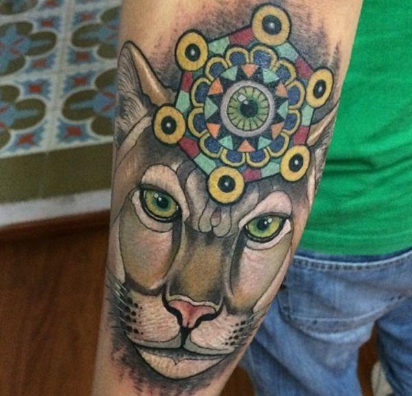 Puma Tattoo am Unterarm
