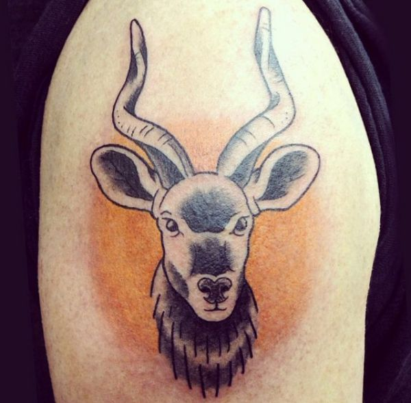 Tattoo Gazelle am Oberarm