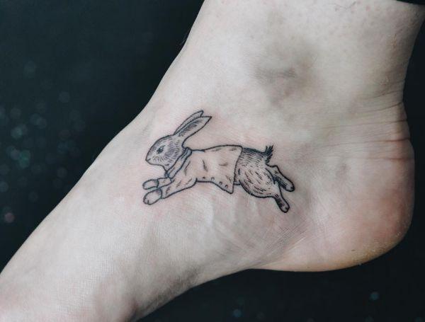 Kaninchen Fuß Tattoo