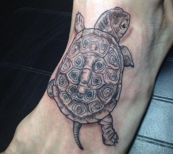 Schildkröte Fuß Tattoo