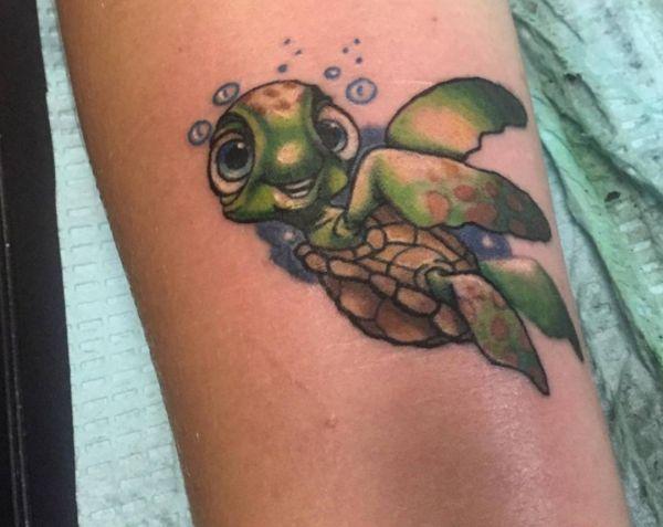 Cartoon Schildkröten Design am Handgelenk