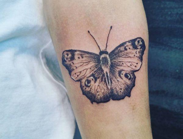 Schmetterling Design auf dem Arm