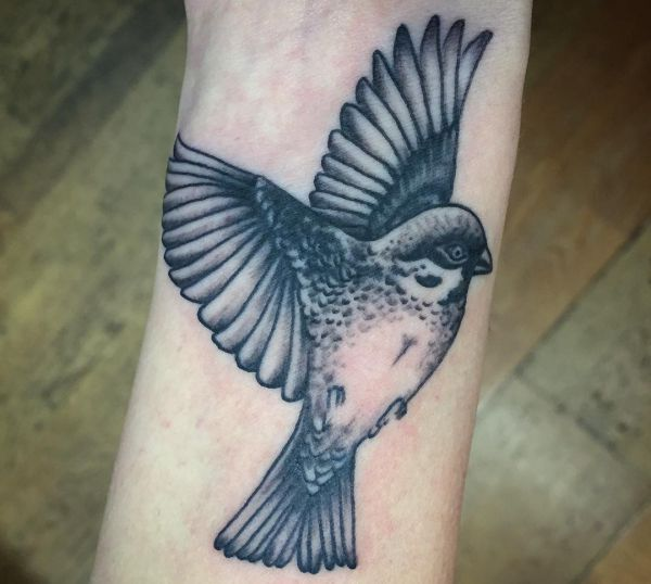 Spatzen Tattoos und die Bedeutungen