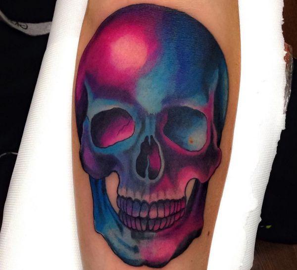 Totenkopf Tattoo Design am Unterarm
