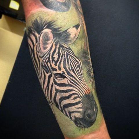 Realistisch Zebra Design auf dem Arm