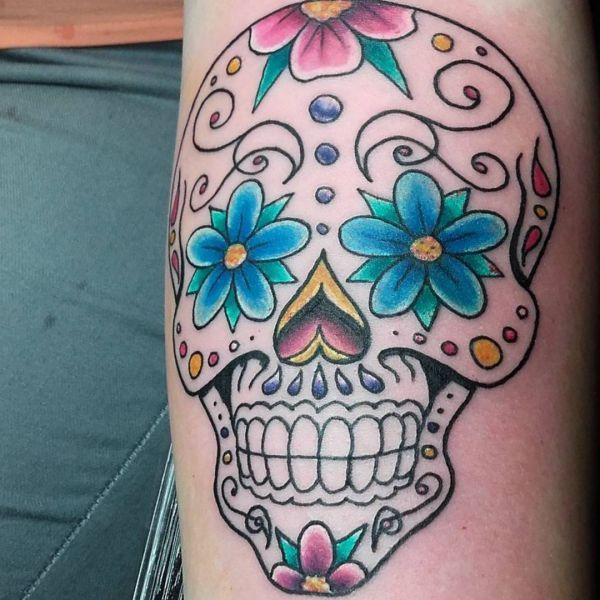 Zuckerschädel Tattoo Design