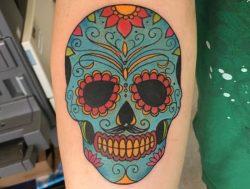 Zuckerschädel Tattoos : 23 Ideen mit Bedeutung